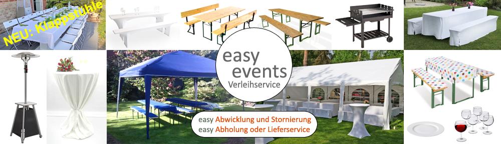 Easy Events Vermietung Verleih Partyservice